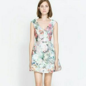 Zara Trafulac jacquard watercolor dress